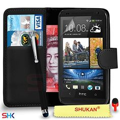 Introducing HTC Desire 610 Premium Leather Black Wallet Flip Case Cover Pouch  Big Touch Stylus Pen  Screen Protector  Polishing Cloth SVL2 BY SHUKAN WALLET BLACK. Great product and follow us for more updates!