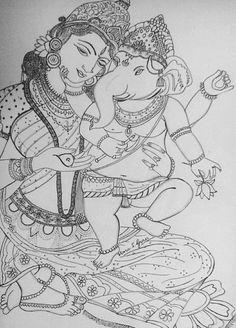 Tattoo Girl Wallpaper Hair New Ideas Tattoo Girl Wallpaper, Mural Painting, Mural Art Design, Drawings, Dancing Drawings, Kerala Mural Painting, Outline Drawings, Art, Tanjore Painting
