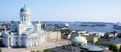 A view of Helsinki's Lutheran Cathedral and the Baltic Sea beyond. photo © City of Helsinki Mediabank / Niko Soveri