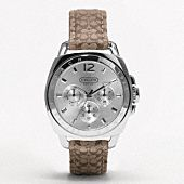 The boyfriend watch by Coach...This makes me want to actually wear a watch...