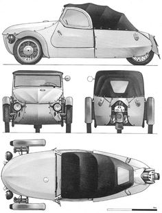 Velorex 350 1963 Blueprint - Pobierz darmowy plan do modelowania Trike Scooter, Trike Motorcycle, Sidecar, Custom Trikes, Microcar, Reverse Trike, Small Cars, Concept Cars, Cars And Motorcycles