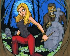 Buffy 11x14 marker colored by grantgoboom on DeviantArt