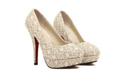 Made from good quality material, comfortable to wear. Stiletto heel design and lace surface to show your sexy and charming feel. A great accessory and easy to match your clothes for special occasions such as weddings or parties.