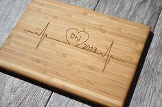 Heartbeat Cutting Board