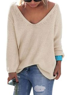 Nulibenna Women s Casual Autumn Thin V Neck Knit Pullover Solid Sweater at  Amazon Women s Clothing store  bbebade22