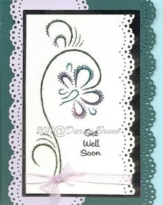 Daddy's Orchid Embroidery Pattern for Greeting Cards by Darse, $1.50