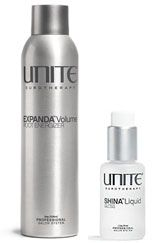 So I have pretty fine, boring hair.  I am learning to love my hair instead of dreaming of thick-can go-from-normal-to-elegant-celebrity-style in 5 minutes hair.  To help me find love and appreciation for my hair I have found the help of UNITE's Expanda Volume Root Energizer.