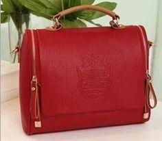 PU zipper handbag casual shoulder bag solid cover crossbody bag soft women's bag