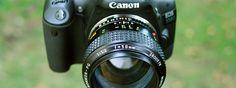 Rokkor lens on Canon cameras