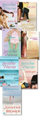 Jennifer Weiner books // been a while since I read one of her books but I loved the first few. Should read the others!