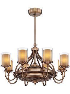It's a chandelier! It's a fan! Etesian Air-Ionizing Fan d'Lier In Burnished Russett