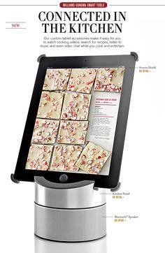 iPad® Kitchen, iPad® Kitchen Stand & Kitchen iPad® | Williams-Sonoma - Stand $49.95, Bluetooth Speaker $149.95
