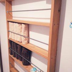 美しいサニタリーを作る、タオル収納のアイデア | RoomClip mag | 暮らしとインテリアのwebマガジン