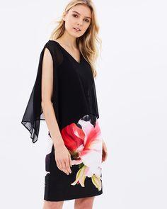 Pink Bloom Overlayer Dress