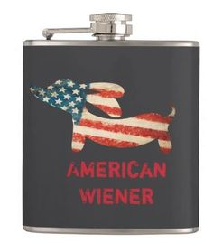 American Wiener Dog Flask for the doxie dad. available at TheSmootheStore.com