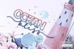 Celebr8 Ocean Bliss Crashing Waves, Majestic Animals, Fascinator, Bliss, Ocean, Neon Signs, Scrapbook, Memories, Cool Stuff