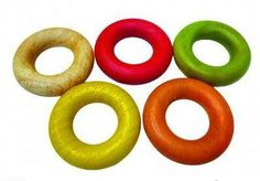 Qtoys Natural Ring Wooden Teether