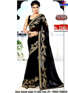 Georgette with black colour
