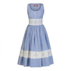 Tropézienne Dress sky - Dresses - Spring Summer 2016 - Online Shop - Lena Hoschek Online Shop