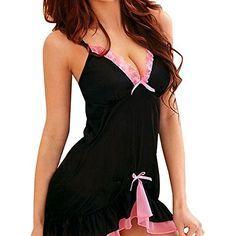 Ukamshop 1PC femmes Sexy Nuisette Robe Lingerie Racy robe de nuit + Strings Culater® http://www.amazon.fr/dp/B00OB4PGM8/ref=cm_sw_r_pi_dp_bUi-vb1CS9ADK