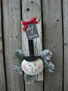 Handmade Snowman Wall Hanging~Winter Wall Hanging Snowman Door, Felt Snowman, Christmas Snowman, Christmas Ideas, Christmas Ornaments, Rustic Winter Decor, Halloween Decorations, Christmas Decorations, Primitive Snowmen