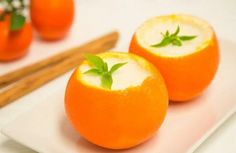Sweet Recipes, Mousse, Panna Cotta, Goodies, Food And Drink, Sweets, Snacks, Orange, Fruit
