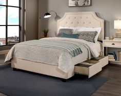 Audrey Storage Platform Bed