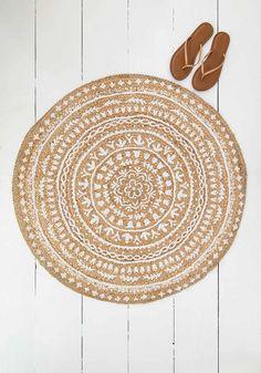 Eclectic Living Room, Rugs In Living Room, Mandala Rug, Natural Rug, Natural Life, Circle Rug, Boho Diy, Bohemian, Patterned Carpet