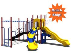 Noahs Park and Playgrounds - Quick Ship Structure QS-013, Want a playground all the kids are sure to love? The Quick Ship Structure QS-013 will be a hit with any kids ages 5-12! Slides and climbers galore! The ADA Transfer Station ensures that EVERYONE can have fun!(http://www.noahsplay.com/playground-equipment-needs/church/quick-ship-structure-qs-013/)