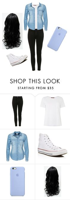 """""""Untitled #25"""" by cynthiaxgarcia on Polyvore featuring Topshop, MaxMara, Vero Moda and Converse"""