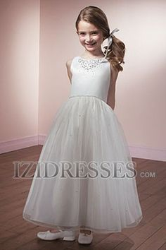 Ball Gown Straps Organza Flower Girls Dresses at IZIDRESSES.com