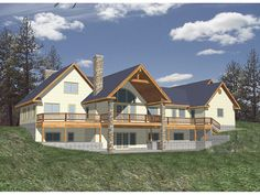 Balsam Heights Contemporary Home from houseplansandmore.com  4671 - 3 levels