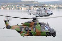 Un NH90TTH de l'Armée de terre et un NH90NFH de la Marine nationale © NHI