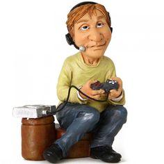 Funny jobs, beeldje gamer, figurine mr videogame, figur spieler