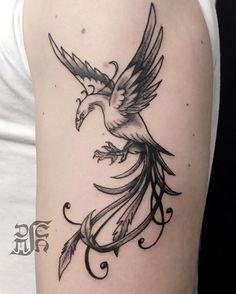 #fenix #fenice #reborn #rinascita #tattoo #blackandgreytattoo Reborn Tattoo, Phoenix Tattoos, Black And Grey Tattoos, Tattos, Small Tattoos, Iris, Piercing, Body Art, Dragon