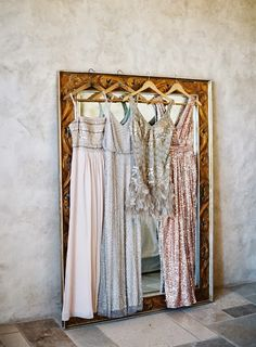 Long, embellished bridesmaid dresses - those beaded and sequined beauties - are one of the most awesome current trends! These gowns really pop at any bridal party and look stunning, they really become the base of any absolutely gorgeous bridesmaid look. Stunning Wedding Dresses, Princess Wedding Dresses, Wedding Dress Styles, Wedding Gowns, Beautiful Dresses, Elegant Gowns, Fancy Gowns, Wedding Hire, Gatsby Wedding