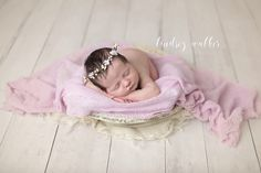 baby head up in prop with floral crown knoxville newborn photographer newborn posed in wooden bowl Newborn Poses, Baby Head, Floral Crown, Newborn Photographer, Family Portraits, Little Girls, Photography, Family Posing, Toddler Girls