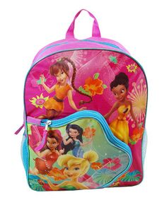 Disney dreamers can take all the magic of Disney fairies with them wherever they go thanks to this brilliant backpack. With a large main compartment, zipper front pocket and a mesh pouch on each side, this handy hauler has space for all their goodies.