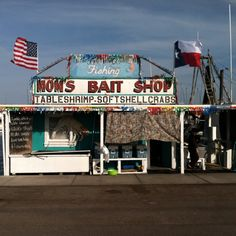 Rockport, Texas--Mom's, where Chip and I buy our bait before going to fish in Little Bay-- Tackle Shop, Bait And Tackle, Rockport Texas, Texas Coast, Water Activities, Texas Travel, Stars At Night, Summer Boy, Us Beaches