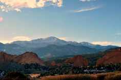 Mimi's Pics — Garden of the Gods in front of Pikes Peak, Colorado Springs, CO