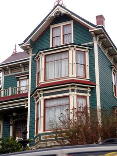 Teal & red Victorian house in Astoria by eg2006, via Flickr