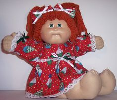 16 inch CABBAGE PATCH DOLL Clothes - Christmas Cupcake Red Dress