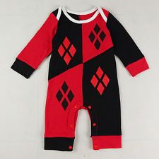 Baby Girls Harley Quinn Bodysuit Outfit Costume Romper Clothes Size 0-24M