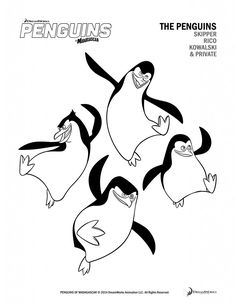 Free Printable Penguins of Madagascar Activity Sheets!