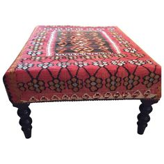 George Smith Kilim Ottoman on Chairish.com