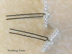 Wedding Tones: DIY: Handmade Bridal Bobby Pins With Pearls Real Pearls, Pearl Beads, Diy Jewelry, Bobby Pins, Hair Accessories, Fancy, Make It Yourself, Bridal, Metal
