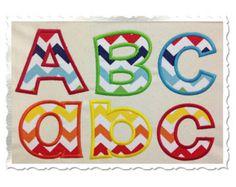Happy Applique Machine Embroidery Font Alphabet - 4 Sizes