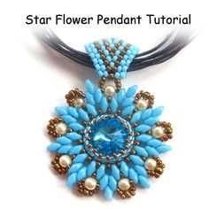 Star Flower Rivoli Pendant with Super Duo