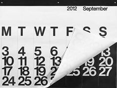the stendig calender - first designed in 1966 by massimo vignelli and taken that year to the design collection of the museum of modern art