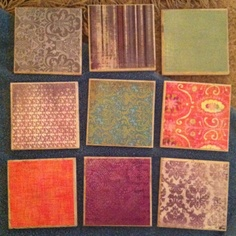 Scrapbook paper, Mod Podge & tiles made into beautiful coasters!